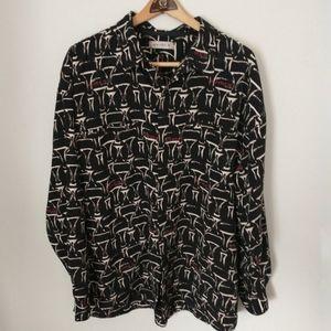 Avirex 3XL XXXL Button Down Shirt Button Up Allove